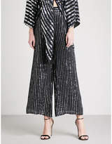 Temperley London Neri wide-leg sequinned trousers