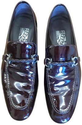 Salvatore Ferragamo Burgundy Patent leather Flats