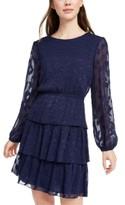 City Studios Juniors' Leaf-Embroidered Dress