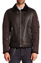 The Kooples Long Sleeve Leather Puffer Jacket