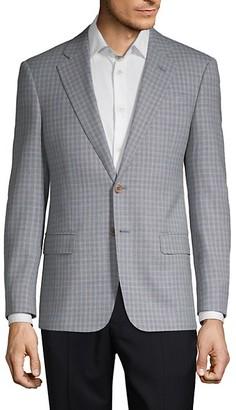 Armani Collezioni Classic Fit Mini Check Virgin Wool Sportcoat