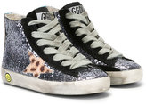 Golden Goose Deluxe Brand Kids - glitter hi-top sneakers - kids - Leather/Suede/PVC/rubber - 19
