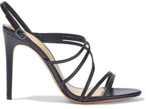 Alexandre Birman Leather Slingback Sandals