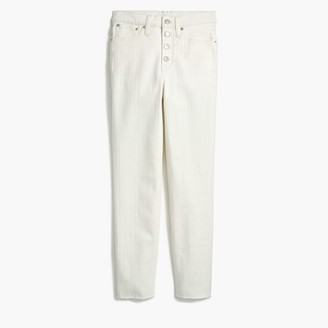J.Crew Vintage straight jean in white denim with button fly