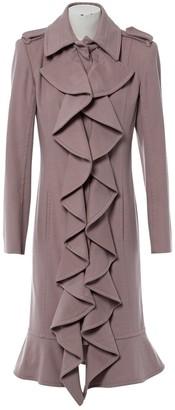Saint Laurent Pink Wool Coat for Women
