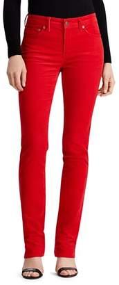 Ralph Lauren Premier Straight Corduroy Pants in Lipstick Red