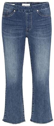Tribal Audrey Pull-On Straight Crop Jeans in Dark Vintage (Dark Vintage) Women's Jeans