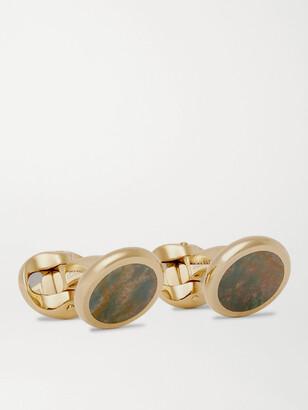 Kingsman + Deakin & Francis Gold-Plated Heliotrope Cufflinks