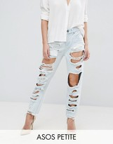 Asos ORIGINAL MOM JEANS in Harrow Wash with Extreme Super Busts