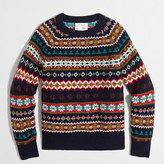 J.Crew Factory Boys' Fair Isle crewneck sweater