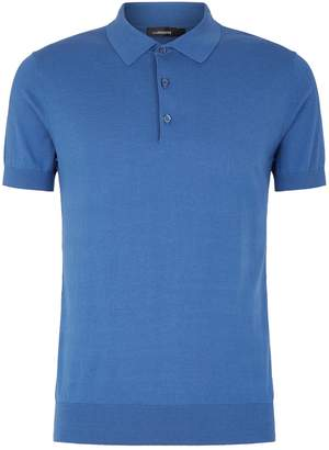 J. Lindeberg Cotton Silk Polo Shirt