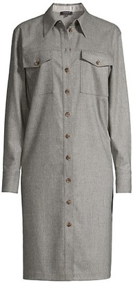 Lafayette 148 New York Thomme Virgin Wool-Blend Shirtdress