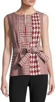 Oscar de la Renta Women's Tie-Front Shell Top