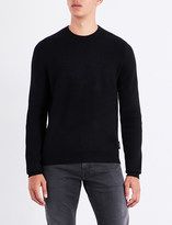 Armani Jeans Eagle-embossed knitted jumper