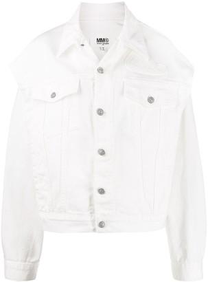 MM6 MAISON MARGIELA Cut-Out Detail Denim Jacket