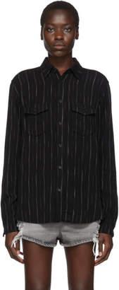 Saint Laurent Black Stripes Shirt