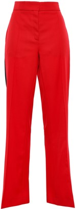 Nina Ricci Striped Wool-twill Flared Pants