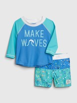 Gap Baby Splatter Swim Set