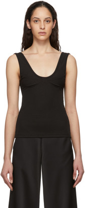 CHRISTOPHER ESBER Black Ribbed Bra Tank Top