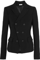 Balenciaga Double-breasted Wool-crepe Blazer - Black