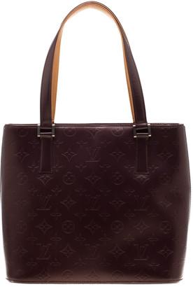 Louis Vuitton Purple Monogram Mat Leather Houston Bag