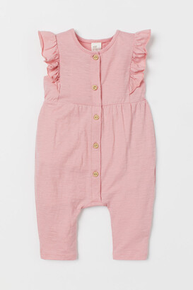H&M Slub Jersey Romper Suit - Pink