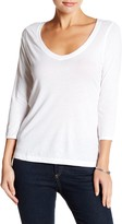 14th & Union 3/4 Sleeve V-Neck Shirt (Petite)