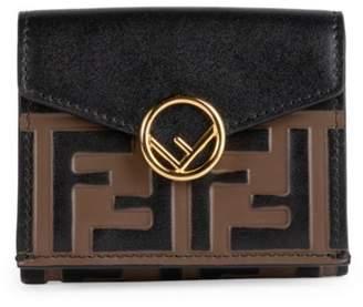 Fendi Monogram Tri-Fold Leather Wallet