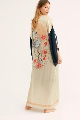Free People Rising Sun Maxi Kimono