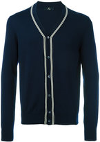 Fay stripe detail buttoned cardigan - men - Cotton - 48