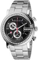 Gucci G Chrono 44mm Chronograph Stainless Steel w/ Diamonds Watch-YA101324 Watches