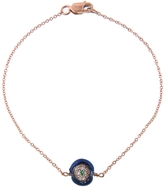 EYE M by Ileana Makri Blue Enamel Evil Eye Bracelet with Diamonds - Rose Gold