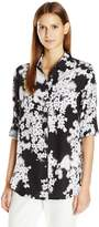 Calvin Klein Women's Roll Sleeve Tunic