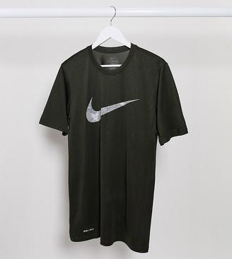 Nike Training Nike Tall Training camo swoosh t-shirt in khaki