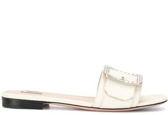 Bally Crystal Embellished Buckled Sandals