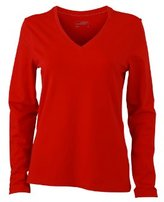 James & Nicholson Women's Langarmshirt Ladies Stretch V Shirt Long Sleeve - Maternity T-Shirt -(Manufacturer size: )