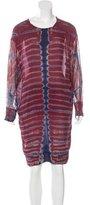 Raquel Allegra Tie-Dye Print Knee-Length Dress