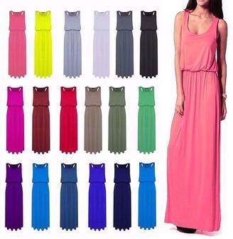 Ladies MARIETTA Green//White Stripe Jersey Italian Style Baggy Maxi Dress S,20//22