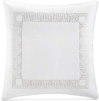 Hotel Collection Greek Key Cotton Platinum European Sham, Bedding