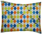 SheetWorld Percale Twin Pillow Case - Argyle Transport - Made In USA