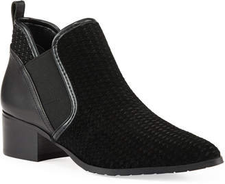 Donald J Pliner Darla Perforated Suede Booties