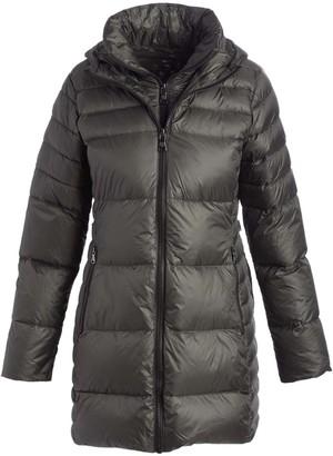 Vince Camuto Women's Puffer Coats Loden - Londen Layered Puffer Coat - Women