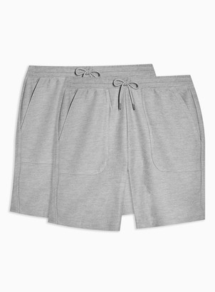Topman 2 Pack Grey Twill Jersey Shorts Multipack*