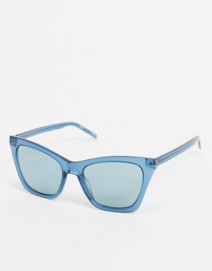 HUGO BOSS cat eye sunglasses in blue