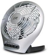"""Sunpentown 7"""" Desktop Fan with Ionizer - Silver- SF-0703"""