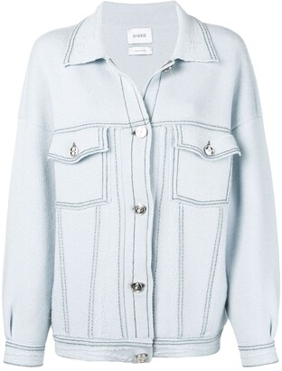 Barrie Stitch-Detail Oversized Jacket