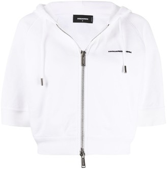 DSQUARED2 Cropped Short-Sleeved Hoodie