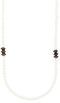 Armenta Sterling Silver, Bone & Smokey Quartz Beaded Necklace