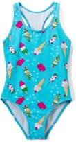 Juicy Couture Turquoise Ice Cream One-Piece - Girls