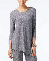 Alfani Printed Asymmetrical Tunic Top, Only at Macy's
